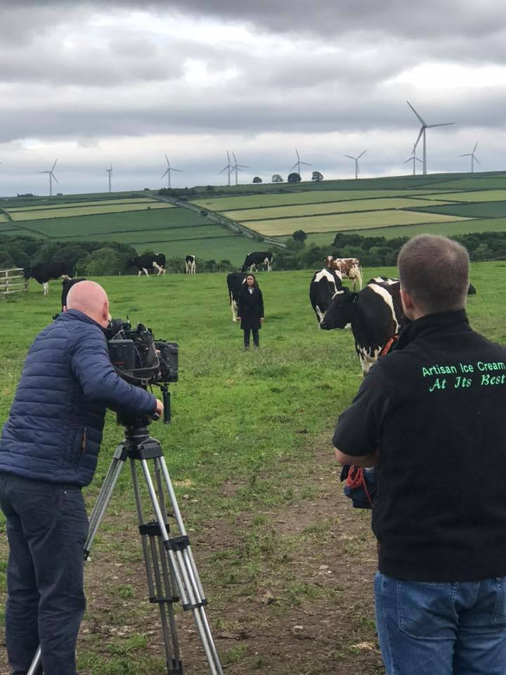 Countryfile filming on The Farm